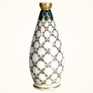 Amazing Vase Opaline Legras Enamel Style Louis XVI 1900
