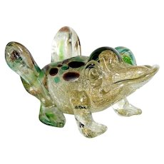 Frog Murano Art Glass Figurine around 1950 – Amazing Colors!
