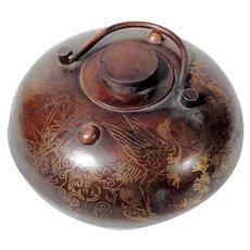 Handcrafted Chinese Brass Hand Warmer Wonderful Motifs