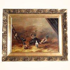 19Th Century Painting Henhouse Artist Signed