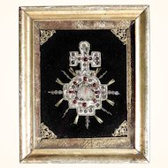 Very Rare Convent Work Holy Blood Relic Early 19th Century