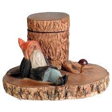 Old Inkwell Gnome German Folk Art