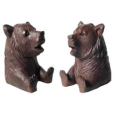 Black Forest Inkwell Sitting Bear ca. 1880