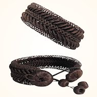 Mourning Bracelet Woven and Tongued Hairs – Beautiful!