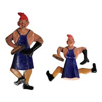 Charming Old Jumping Jack Shoeshine Boy Hand Carved and Painted