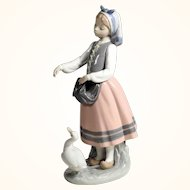 Girl with Duck Charming Lladro Porcelain Figurine