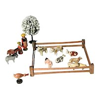 Miniature Farm Wooden Animals Sheep Cows Pig Horse Donkey