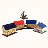 Nice Miniature Putz Houses for a Doll Village
