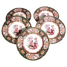 Exquisite Set of 5 Minton Dishes ca. 1880