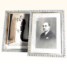 Pair of Large Matching Micro Mosaic Table Top Frames
