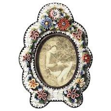 Nice Micro Mosaic Frame Grand Tour Souvenir ca. 1900