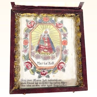Old Devotional Pilgrimage Souvenir from Maria Zell