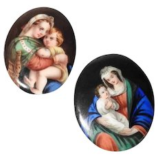 Amazing Porcelain Miniature Pictures Virgin with Child