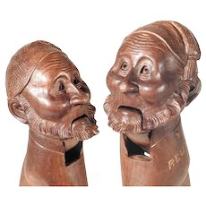 19th Century Nut Cracker Old Man Character Head Black Forest