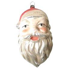 Large Christmas German Ornament Santa Head Funny Face
