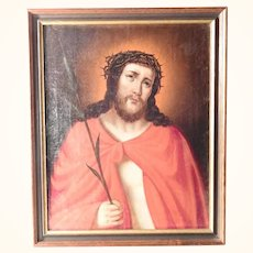 19th Century Religious Painting The Mocking of Christ