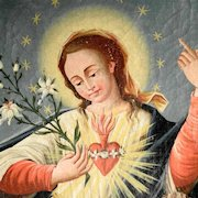 Baroque Painting Immaculate Heart of Mary