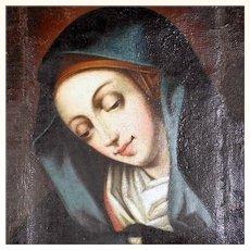 Touching Baroque Painting Praying Virgin