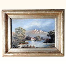 Amazing Landscape Painted  Signed and dated 1883
