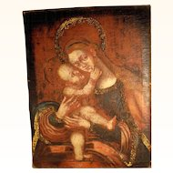 18C Virgin with Child - Mary Help – Old German Master Baroque