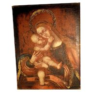Early 18C Virgin with Child - Mary Help – Old German Master Baroque