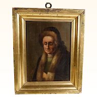 Portrait Mann with Fur Cape  Early 19th Century