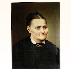 German Ancestor  Portrait Artist Signed and Dated 1882