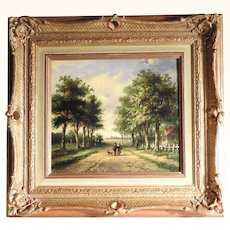 19th Century Excellent Rural Landscape – Dutch Master Nicolaas Martinus Wijdoogen