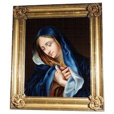 Praying Virgin Excellent Painting Italian Master  ca. 1850