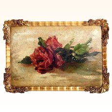 Still Life with Rose Signed and Dated 1919