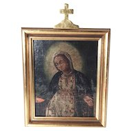 Very Old  Painting Virgin Mary
