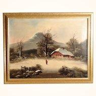 Snowy Landscape Mountain Region ca. 1880