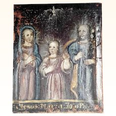 Late Baroque  Religious Painting Holy Family
