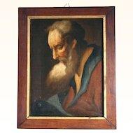 Excellent Portrait of a Scholar Aged Man 18th Century