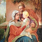 Holy Family –  Oil Painting ca. 1880