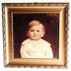 Lovely Painting of a Baby at the Age of 20 Months