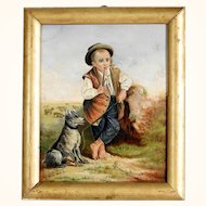 Amazing Pasturage Painting Artist Signed & Dated 1871