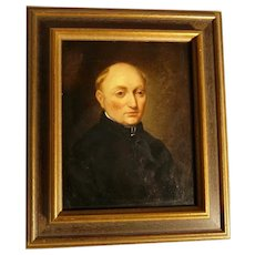 19th Century Excellent Portrait of a Church Man  Dutch School