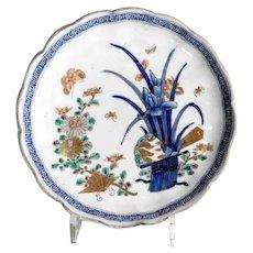 Beautiful Imari Plate Iris Blossom about 1900