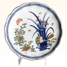 Beautiful Imari Plate Iris Blossom about 1900