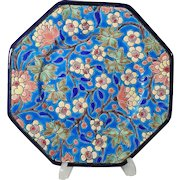 Longwy Faience Plate Unusual Shape
