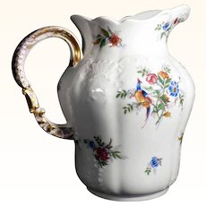 Superb Art Nouveau Wash Pitcher ca. 1900 Limoges Charles Ahrenfeld