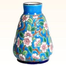 Amazing Pottery Vase Longwy ca. 1920/30