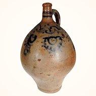 Old Handmade German Salt Glazed Pitcher ca. 1850