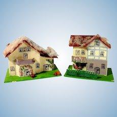 Pair of Nice Putz Houses