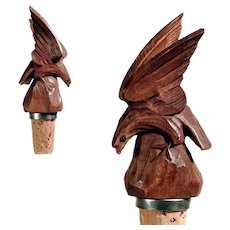 Hand Carved Bottle Stopper Eagle ca. 1920