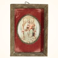 Antique Reliquary Virgin Mary with Child
