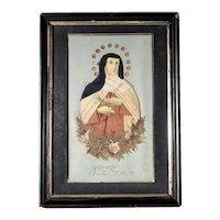 Old Reliquary Saint Theresa of Avila 19. Century