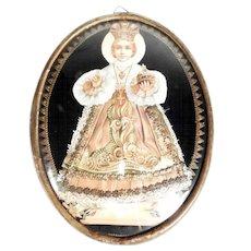 19th Century Reliquary Prague Infant Jesus  Devotional Object