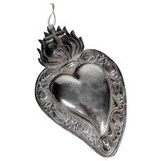 Large Reliquary Ex-Voto Jesus Sacred Heart Passion Instruments
